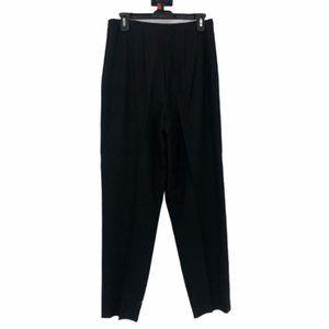 Talbots Womens Black Pleated Dress Pants Size 10